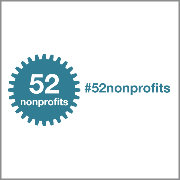 @52nonprofits Instagram account + hashtag