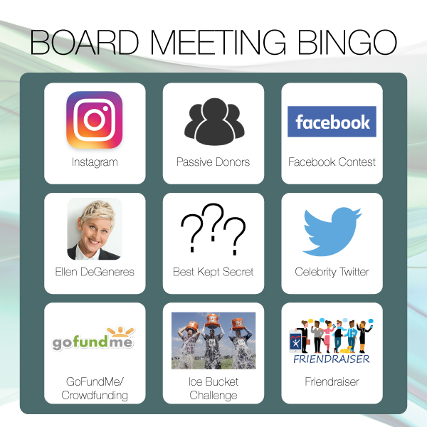 Board Meeting Bingo