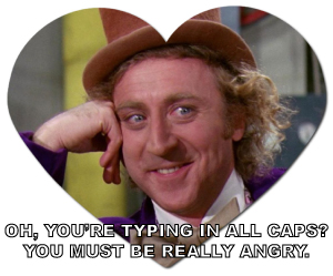 caps lock emails wonka