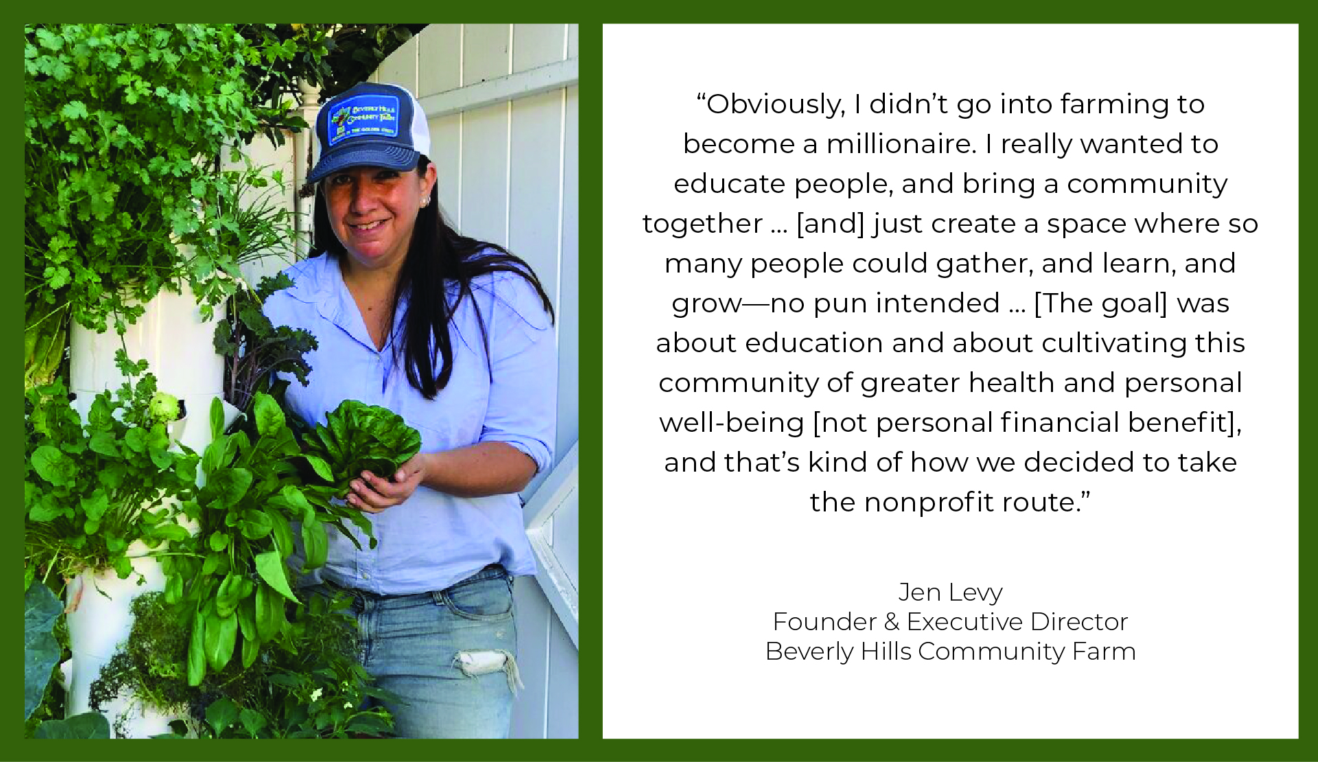 Jen Levy - Founder & Executive Director of Beverly Hills Community Farm