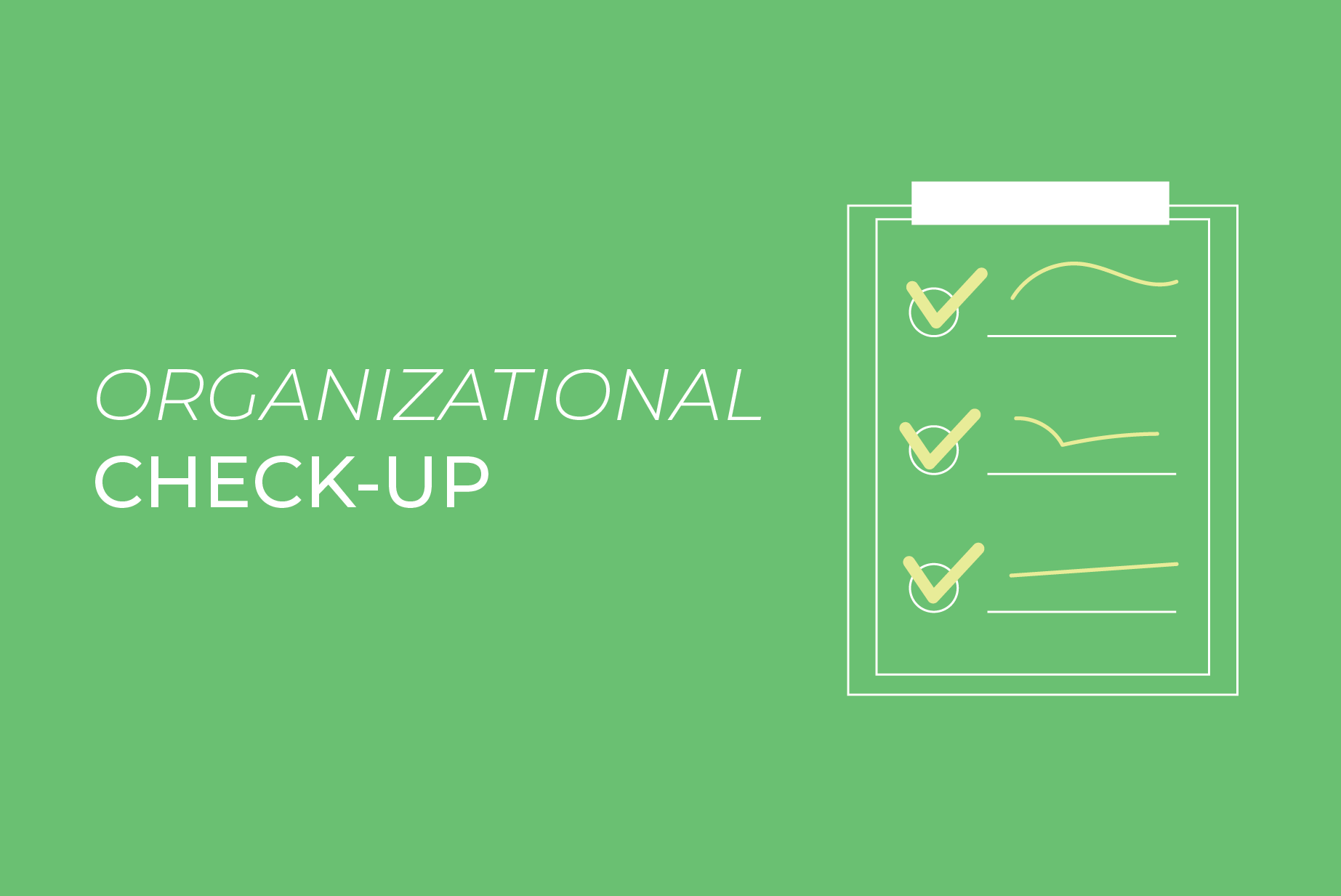 ORGANIZATIONAL CHECK-UP